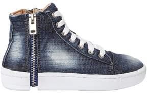 Diesel Zip-Round Denim High Top Sneakers