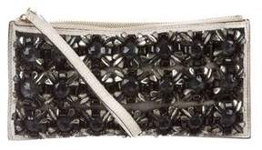 Marni Embellished Leather Wristlet