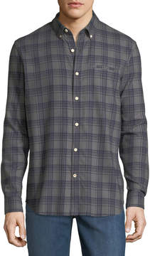 Joe's Jeans Seattle Plaid Flannel Button-Down Shirt