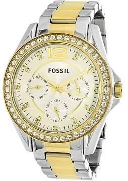 Fossil Women's ES3204 Riley Stainless Steel Watch, 38mm