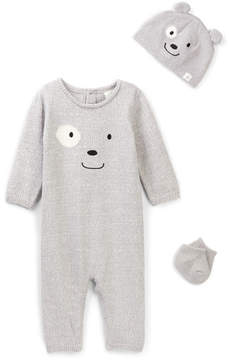 Cuddl Duds Bear Coverall, Hat & Sock Set (Baby Boys)