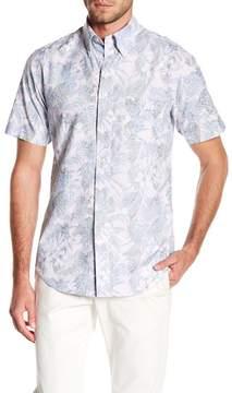 Brooks Brothers Tropic Floral Short Sleeve Regular Fit Shirt