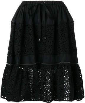 Fendi flora cut out skirt