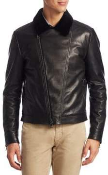 Saks Fifth Avenue COLLECTION Shearling Bomber