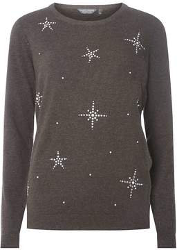 Dorothy Perkins **Tall Grey Snowflake Embellished Jumper