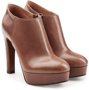 L'Autre Chose Leather Platform Ankle Boots