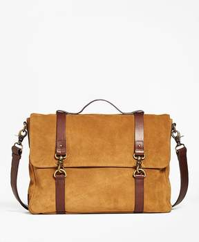 Suede Convertible Brief/Messenger Bag