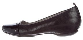 Kenneth Cole Leather Square-Toe Flats