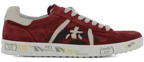 Premiata Men's Red Suede Sneakers.