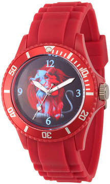 Disney The Lion King Mens Red Strap Watch-Wds000359