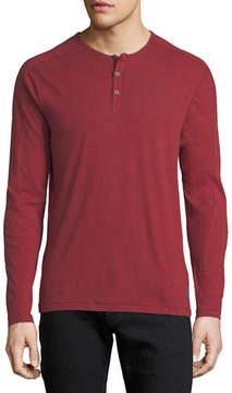 John Varvatos Slub Cotton Henley T-Shirt