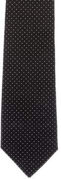 Ralph Lauren Black Label Silk Polka Dot Print Tie