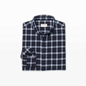 Club Monaco Slim Plaid Flannel Shirt