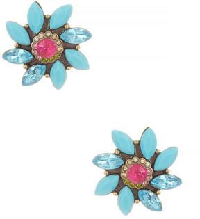 Betsey Johnson Turquoise Flower Stud Earrings