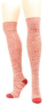 Ariat A1001255004 Womens Above the Knee Marbled Knit Osfa Socks, Red - One Size