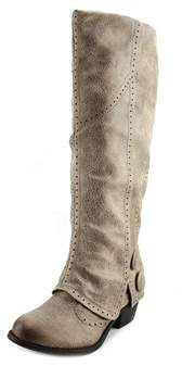 Not Rated Blanchee Women Round Toe Synthetic Tan Mid Calf Boot.