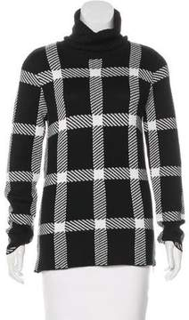 Barbara Bui Checkered Turtleneck Sweater