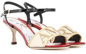 Dolce & Gabbana Amore leather and snakeskin sandals