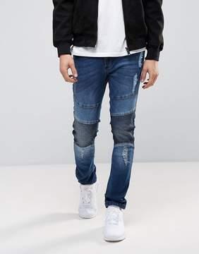 Loyalty And Faith Blakely Dark Wash Blue Biker Jeans