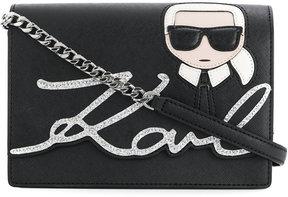 Karl Lagerfeld Karl glitter shoulder bag