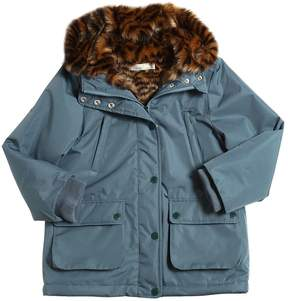 Stella McCartney Nylon & Faux Fur Parka Coat