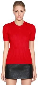 Courreges Slim Cotton & Cashmere Knit Top