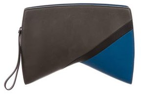 Narciso Rodriguez Leather Boomerang Clutch
