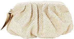 Giuseppe Zanotti Ecru Leather Clutch Bag