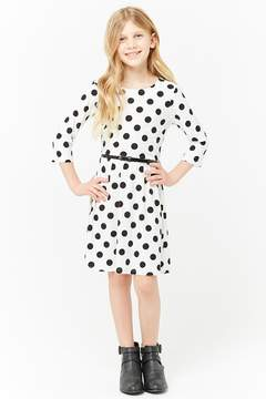 Forever 21 Girls Polka Dot Skater Dress (Kids)