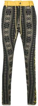 Sacai patterned knitted trousers