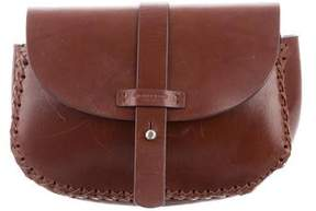 Michael Kors Leather Flap Clutch - BROWN - STYLE