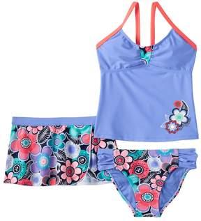 ZeroXposur Girls 7-16 Floral Tankini Swimsuit & Shorts Set