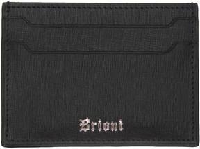 Brioni Black Leather Card Holder