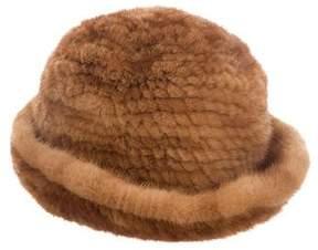 Adrienne Landau Mink Bucket Hat