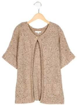 Chloé Girls' Sequined Short Sleeve Cardigan