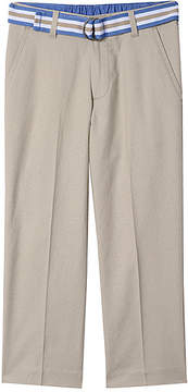 Izod Light Stone Belted Trouser Pants - Boys