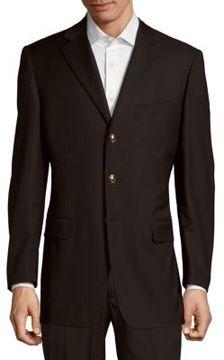 Pal Zileri Solid Notch-Lapel Woolen Jacket