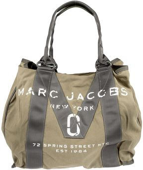 Marc Jacobs Logo Print Tote - ARMY GREEN - STYLE