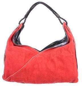 Bottega Veneta Leather-Trimmed Hobo