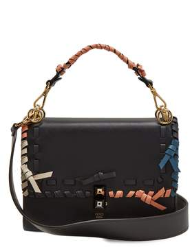 Fendi Kan I whipstitched leather cross-body bag