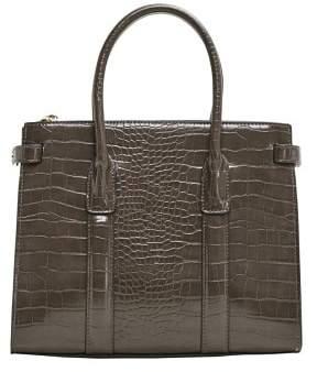 MANGO Croc-effect tote bag