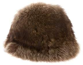 Saks Fifth Avenue Fur Bucket Hat