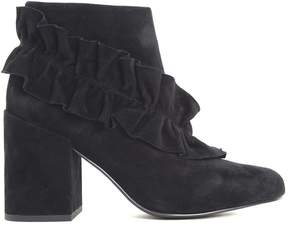 Senso Joelle Ruffled Suede Ankle Boots