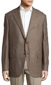 Corneliani Melange Buttoned Jacket