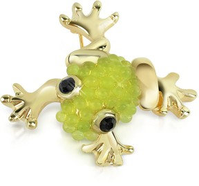 A-Z Collection Light Green Frog Brooch