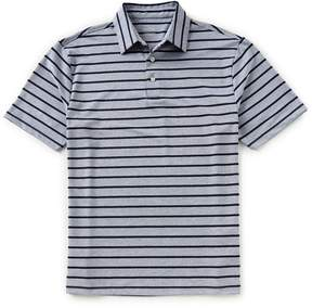 Roundtree & Yorke TravelSmart Short-Sleeve Stripe Heather Polo
