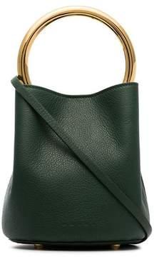 Marni green loop handle bucket bag