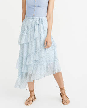 Abercrombie & Fitch Asymmetrical Ruffle Skirt