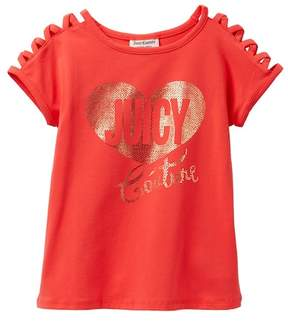 Juicy Couture Red Criss Cross Shoulder Studded Top (Little Girls)