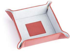 Royce Leather Royce Red Genuine Leather Catchall Valet Tray